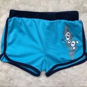 Disney Frozen II Blue Olaf Shorts Size 4